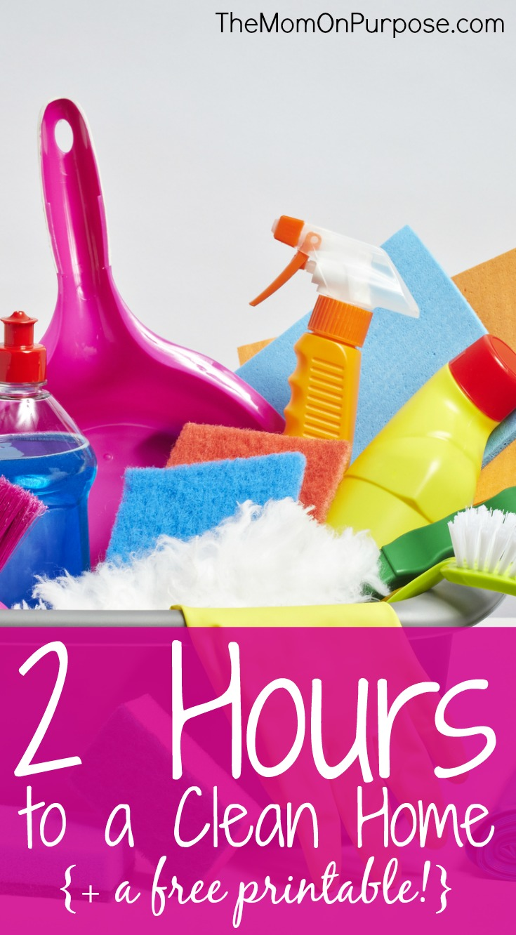 2 Hours To A Clean Home The Simply Organized Home