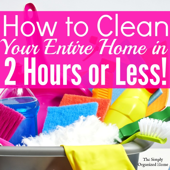 Are you overwhelmed by the mess in your home? Get it back in tip top shape in 2 hours or less with this speed cleaning checklist.