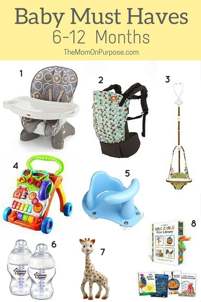 8 Baby Must Haves 6 12 Months The Simply Organized Home