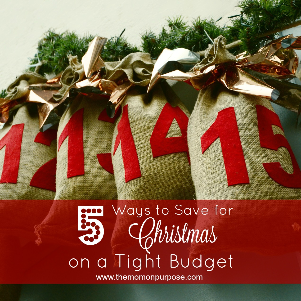5 ways to save for christmas on a tight budget 3 the simply organized home. Black Bedroom Furniture Sets. Home Design Ideas