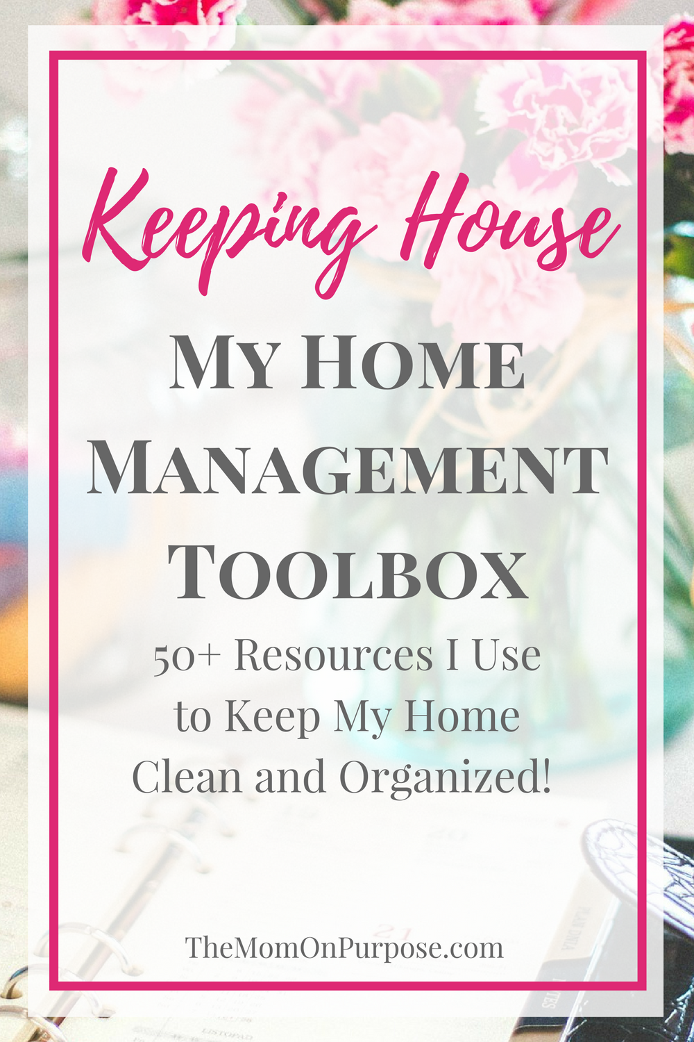 Need help staying on top of your home management? These tools and resources might be just what you need to help yo use a better manager of your home!