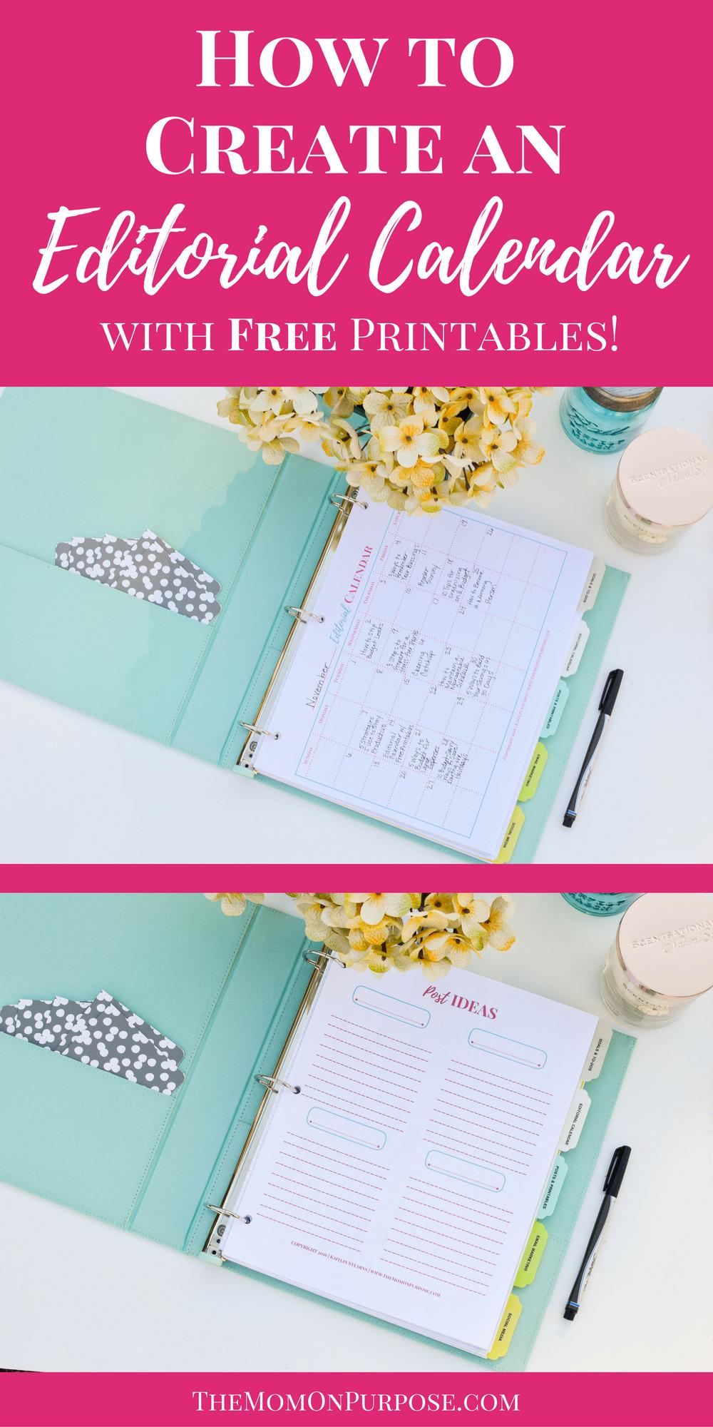 Diy Editorial Calendar : How to create an editorial calendar with free printables
