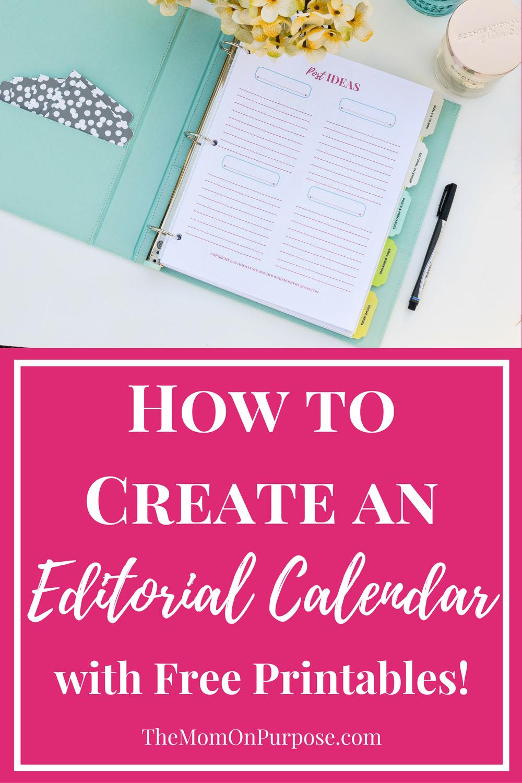 How To Create An Editorial Calendar The
