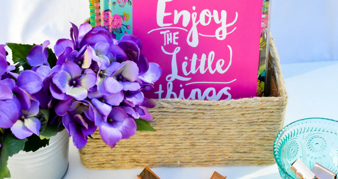 DIY Woven Basket {easy, cute & affordable!}