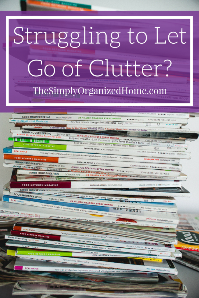 letting go of clutter