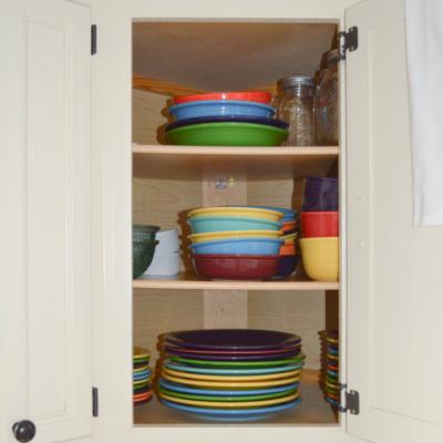Kitchen Organization: Dinnerware, Glasses & Mugs