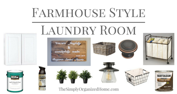 A Farmhouse Laundry Room Makeover on a Budget – THE PLAN