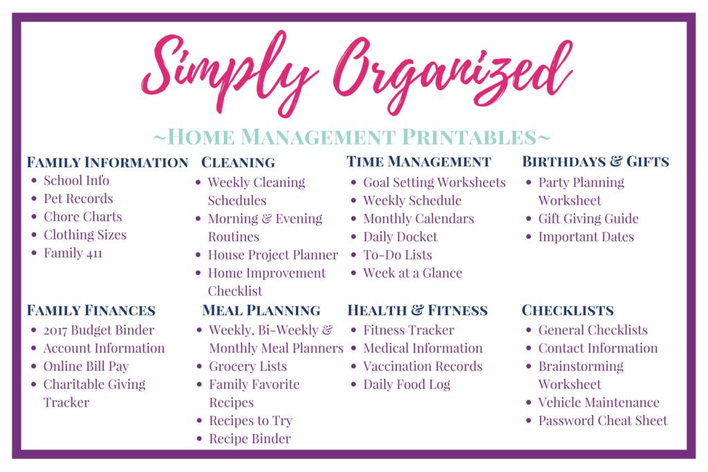 Home Management Binder Free Printables 2020.A Simplified Home Management Binder The Simply Organized Home
