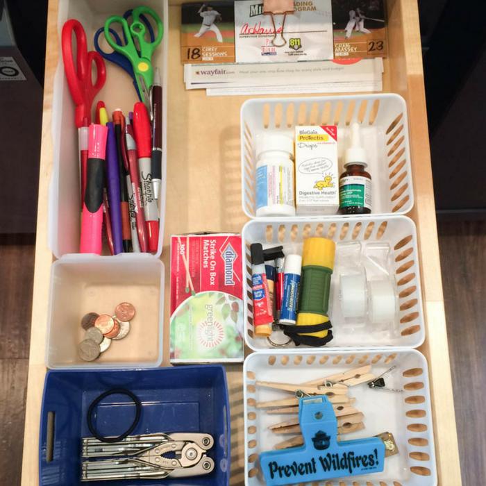 Minimal Junk Drawer Organization