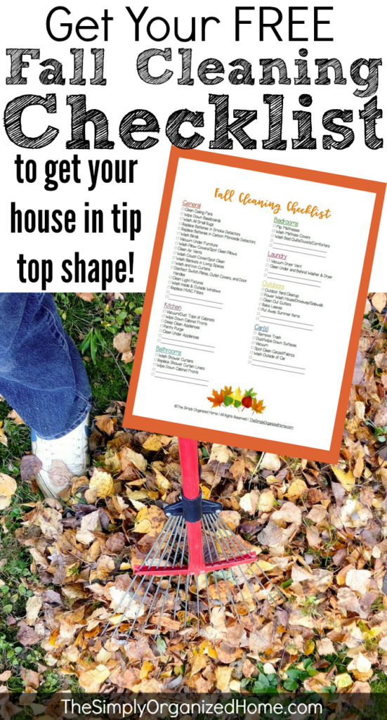 Get your house in tip top shape before the holidays with this fall cleaning checklist!