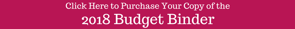 2018 Budget Binder