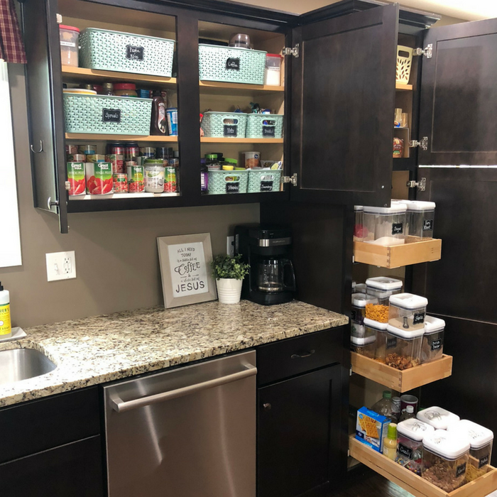 Kitchen With Organized Cabinets