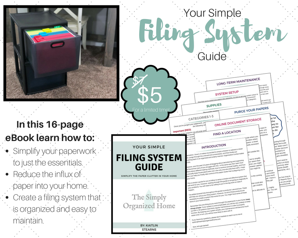 Create an organized filing system that's easy to maintain.