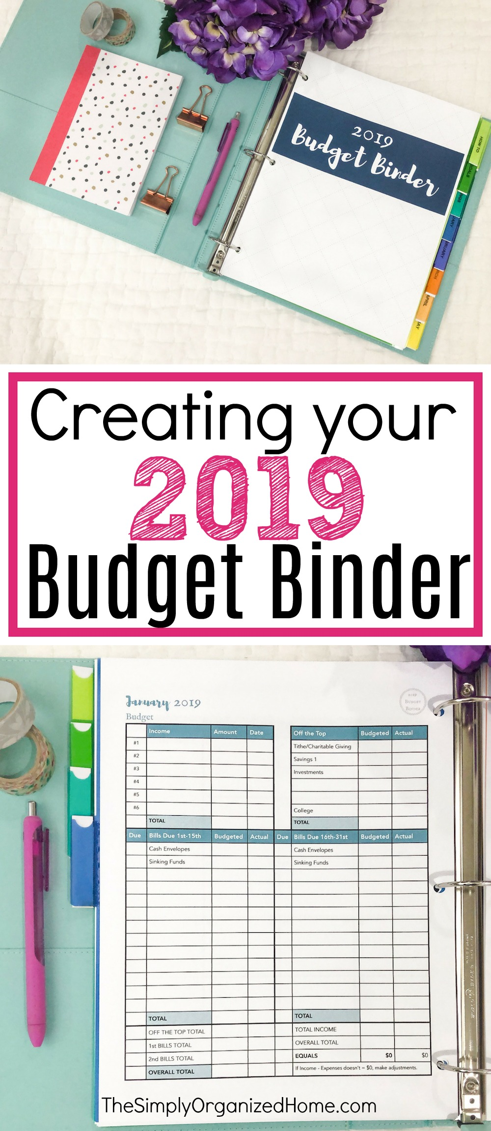 picture relating to Free Printable Budget Binder named Planning Your 2019 Funds Binder - The Quickly Prepared House