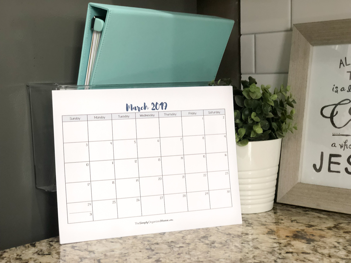 Kitchen Command Center And 2019 Family Calendar The Simply
