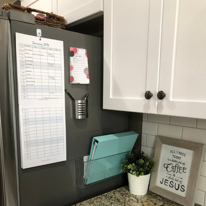 Kitchen Command Center and 2019 Family Calendar