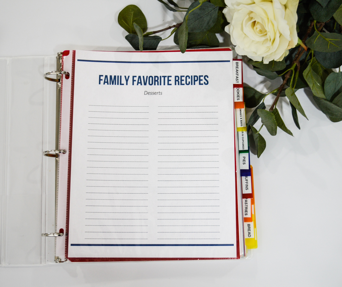 Simplify Family Meal Planning with a list of your family's favorite recipes