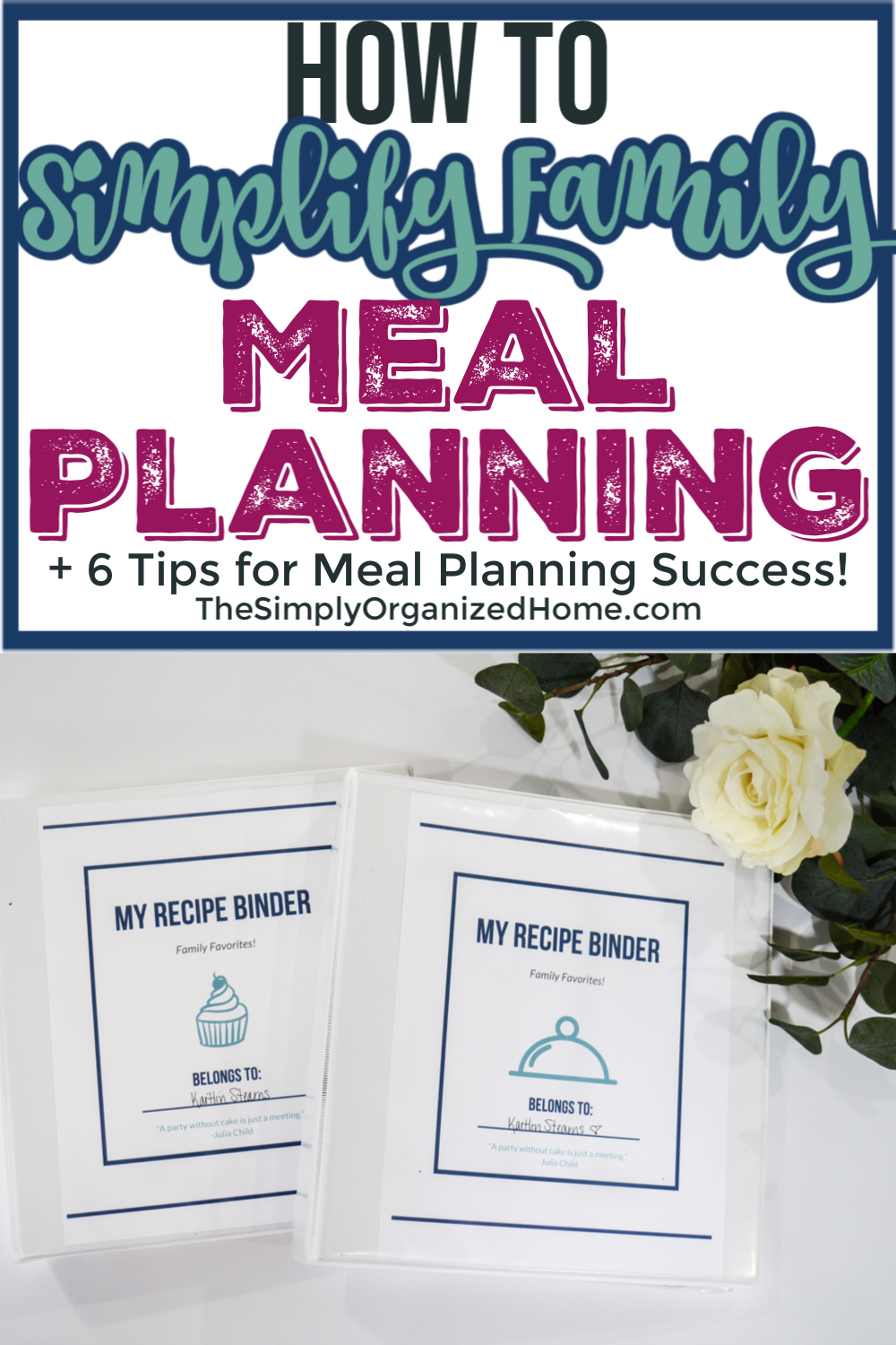 Simplify Family Meal Planning
