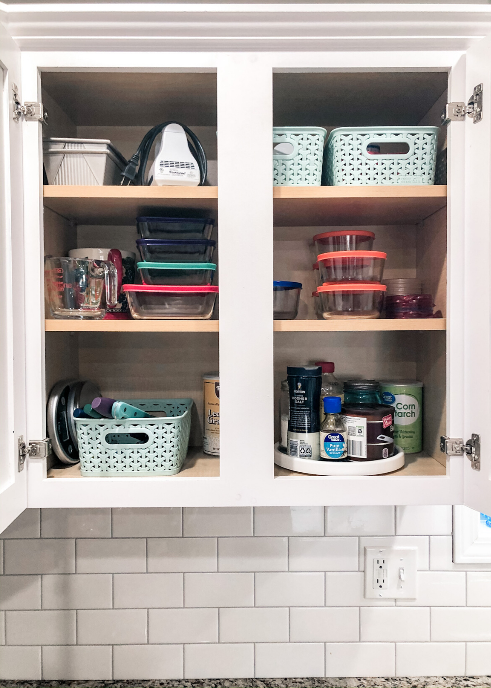 Organized Kitchen - Baking Cabinet