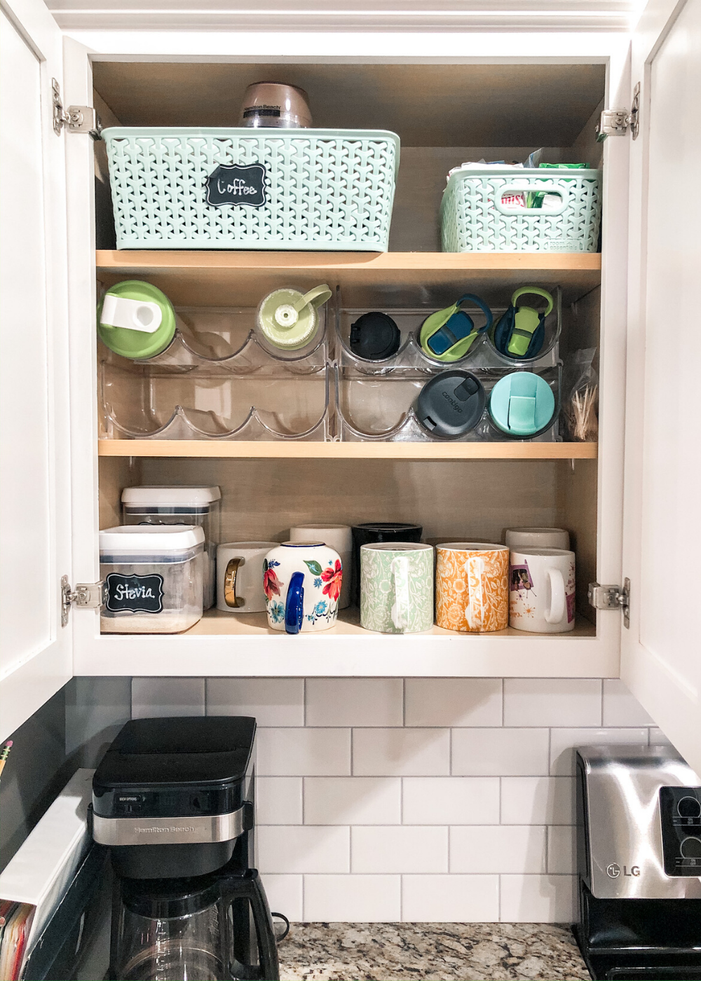 Organized Kitchen - Coffee Cabinet