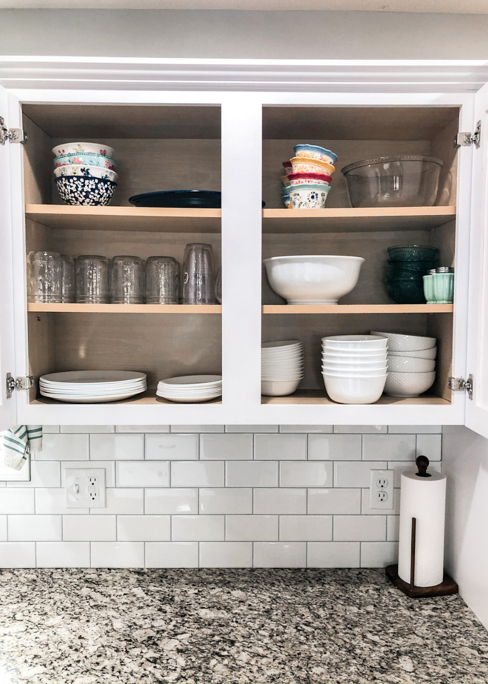 Organized Kitchen - Dishes, Glasses, and Serviceware