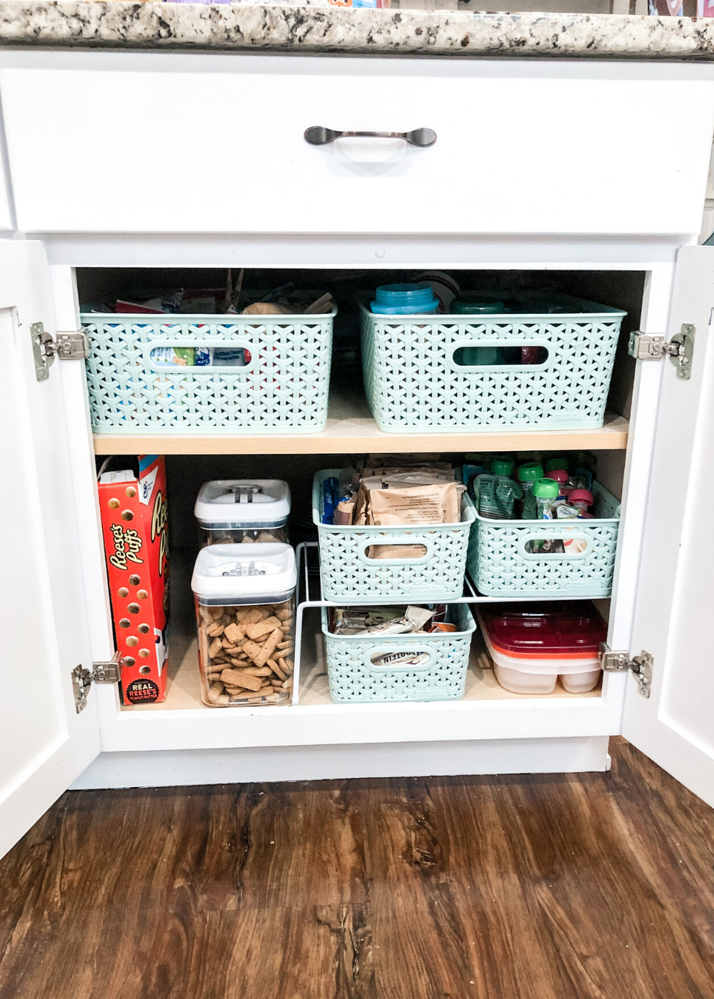 Organized Kitchen - Kid Cabinet