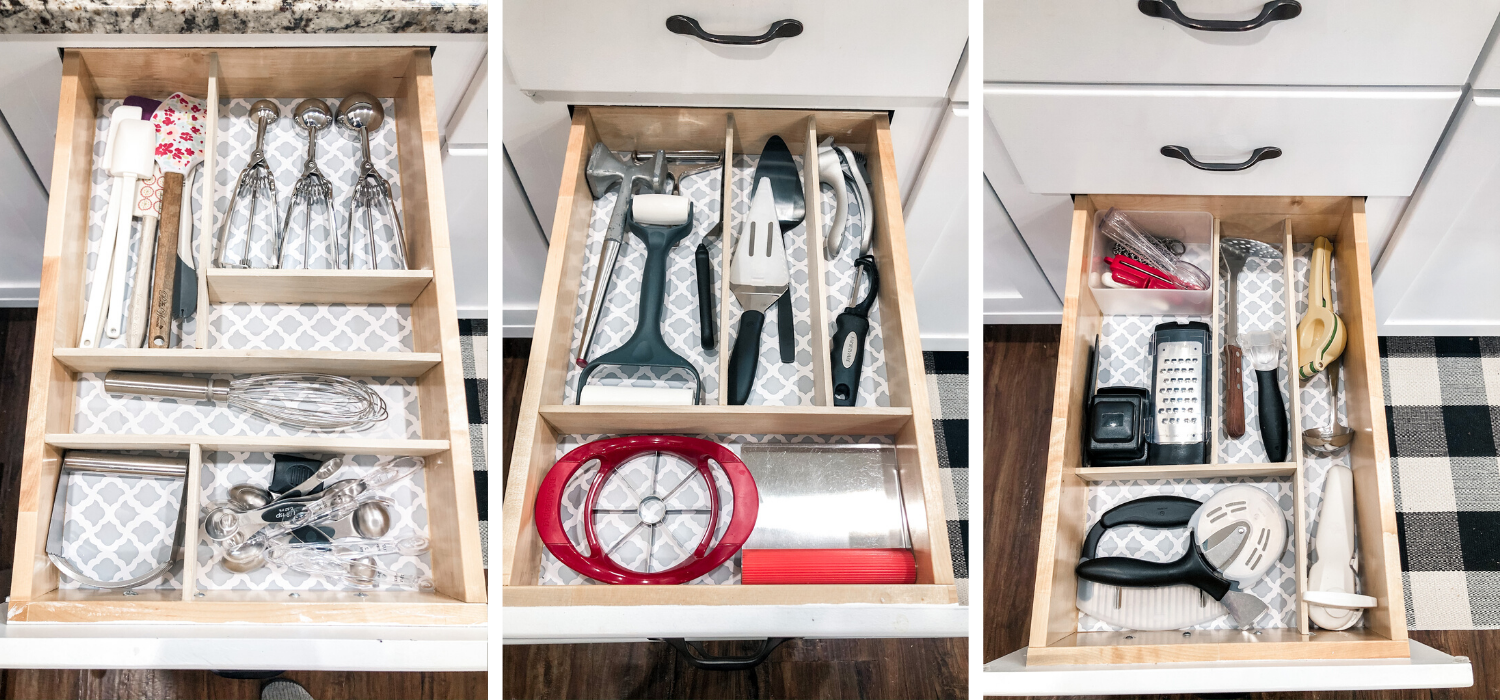 Organized Kitchen - Utensil Drawers