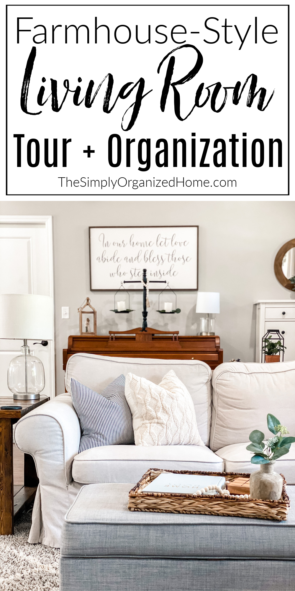 Modern Farmhouse Living Room Tour + Organization Best Children's Lighting & Home Decor Online Store