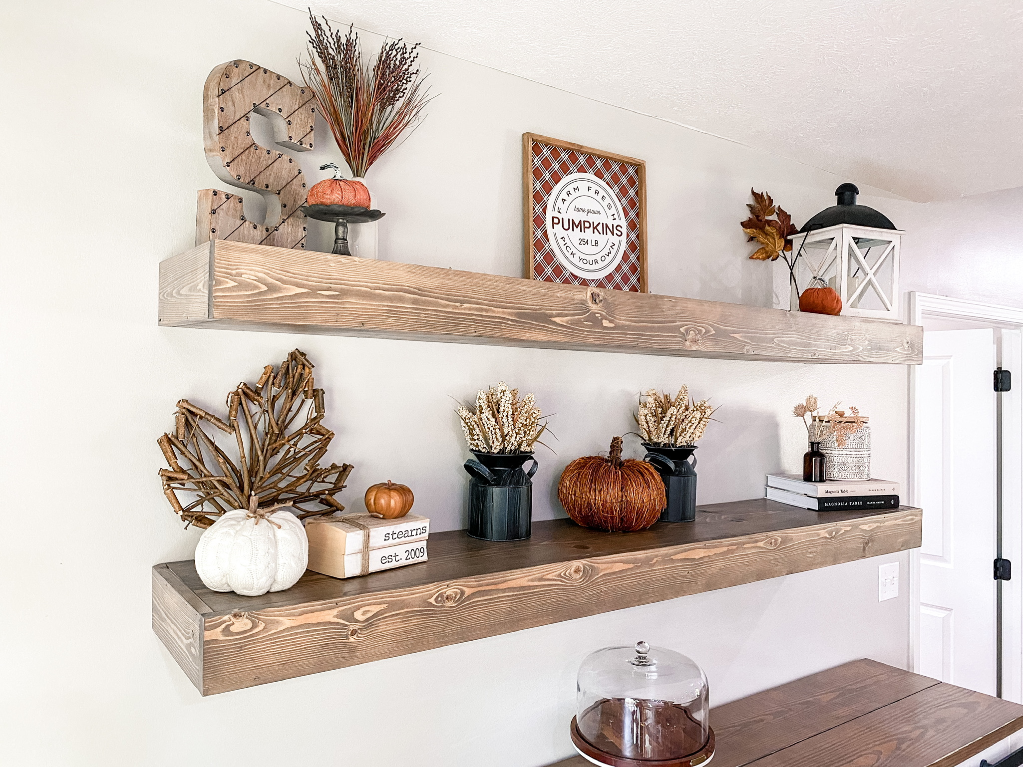 Fall Home Tour Floating Shelves