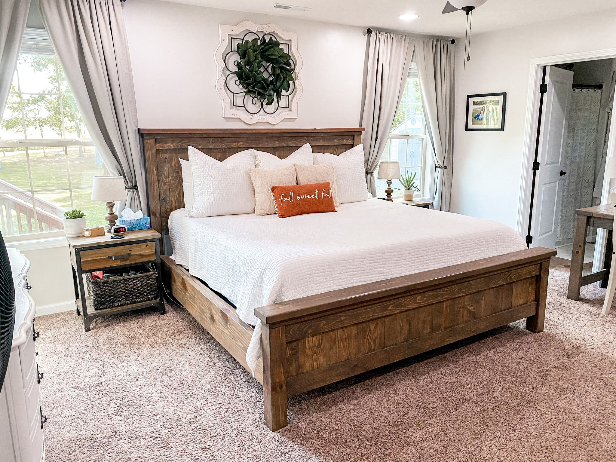 fall home tour master bedroom