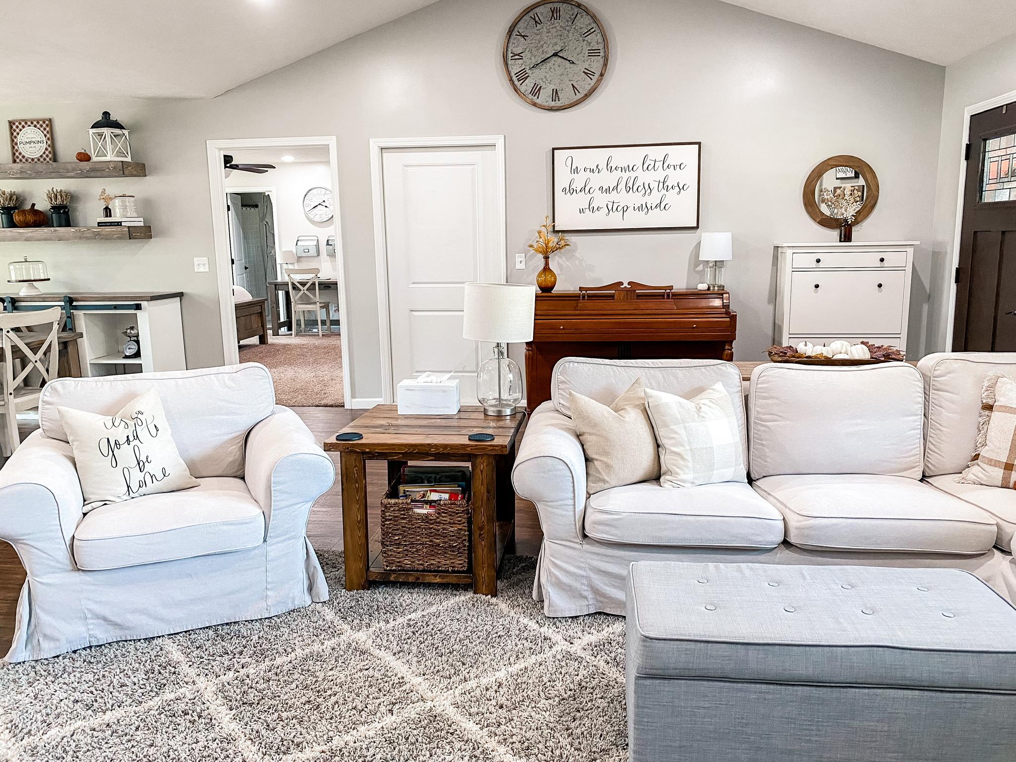 Living Room Fall Home Tour