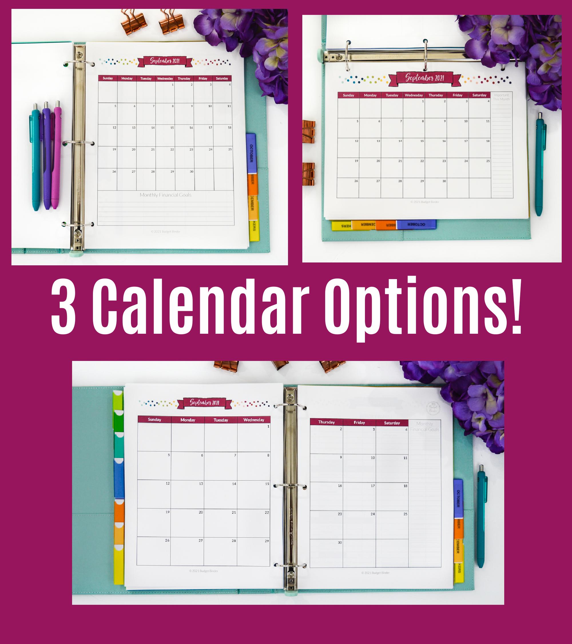 2021-Budget-Binder-Calendar-Options-Spread - The Simply ...